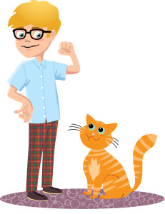 1-boy with cat