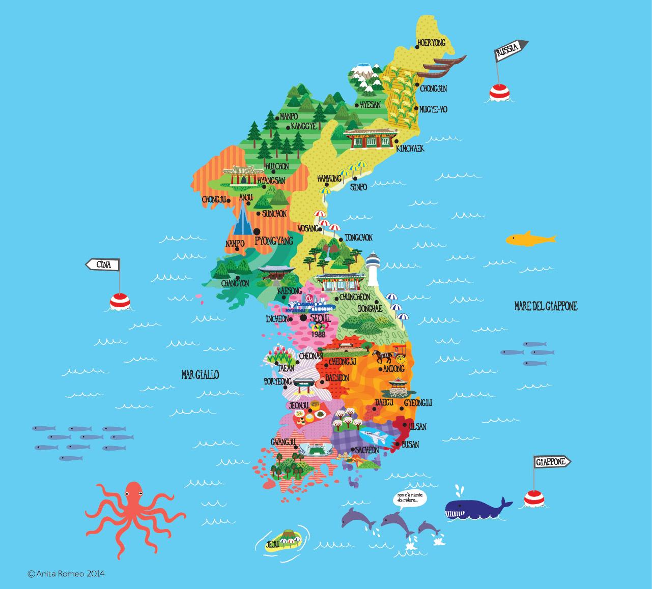 www.anitaromeo.com - Korea Map